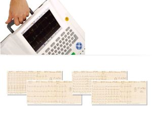 12 Twelve Leads Channel ECG Machine EKG Electrocardiograph Holter Touchscreen Ce pictures & photos