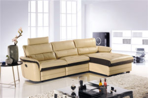 L Shape Leather Recliner Sofa with Backrest pictures & photos