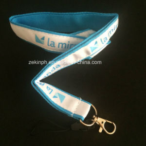 Two Layers Lamindated Lanyard with Silkscreen Printing Logo pictures & photos