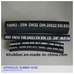 High Pressure Flexible Hydraulic Rubber Hose with Fitting pictures & photos
