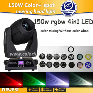 Super Brightness Unlimited Color Mixing 150W Moving Head LED Spot Light