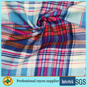 Chemical Viscose Fabric with Plaid for Women Shirts pictures & photos