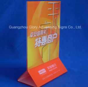 Plastic PMMA Acrylic Menu Holder for Display pictures & photos