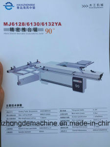 Woodworking Machinery Sliding Table Saw with Round Stick Rail 90 Degree