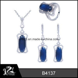 Sapphire Cubic Zirconia 925 Sterling Silver Jewelry for Women