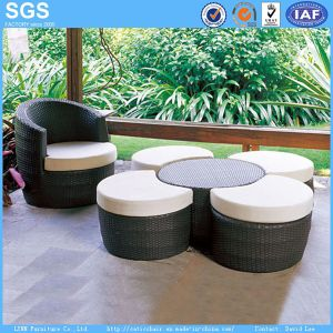 Leisure Furniture PE Rattan Furniture Round Sofa Round Ottoman pictures & photos