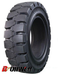 Forklift Solid Tires 4.00X8 5.00X8 6.00X9 6.50X10 8.25X15 pictures & photos