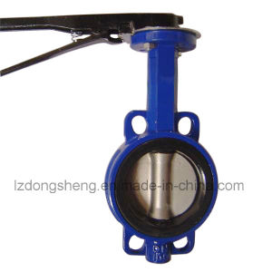 Wafer Soft Seat Butterfly Valve Flanged pictures & photos