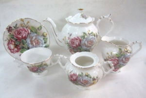15PCS Jade Porcelain Cup&Saucer Set pictures & photos