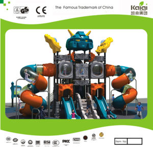 Kaiqi Cool Robot Themed Large Children′s Playground with Slides (KQ20069A) pictures & photos