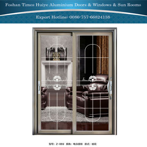 Aluminium/Aluminum Hanging Doors with Champagne Color pictures & photos