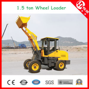 Zl15 1.5 High Efficiency Ton Wheel Loader with Fork (1500kg) pictures & photos