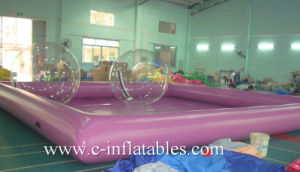 Purple Color Inflatable Big Square Water Pool/ Commercial Inflatable Big Square Swimming Pool