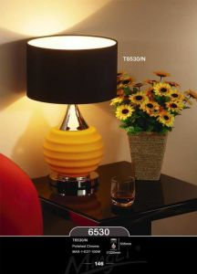 New Fashion Black Fabric Simple Table Lamp for Home pictures & photos