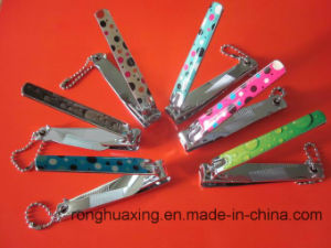 N-211ABC CE Complicant Carbon Steel Nail Clipper with Nail File and Chain, Rubber Surface pictures & photos