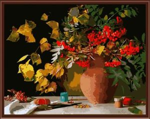 Canvas Painting by Numbers Flower Picture Oil Painting 2015 New Hot Photo Gx6274