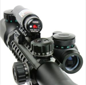 3-9X40 Illuminated Tactical Rifle Scope & Red Laser & Holographic DOT Sight pictures & photos