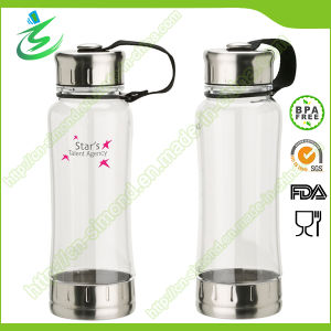BPA Free Plastic Water Bottle with Metal Lid pictures & photos
