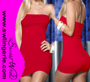 Lycra off Shoulder Sexy Clubwear Party Lingerie Dress L01