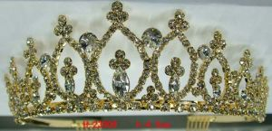Wedding Bridal Rhinestone Tiara H-23909