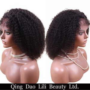 Lili Beauty Remy Hair Mongolian Afro Kinky Curly Wigs Lace Front Human Hair Wigs Natural Line with Baby Hair for Black Women pictures & photos