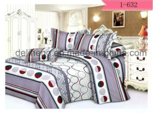 Peach Skin Brushed 100% Microfiber Polyester Printed Bedsheet Fabric pictures & photos
