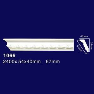 1066 Decorative PU Bedroom Crown Molding PU Cornice