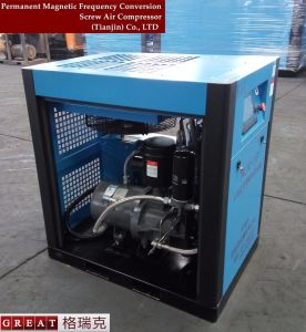 Industrial Lubricated Variable Frequency Rotary Screw Air Compressor pictures & photos