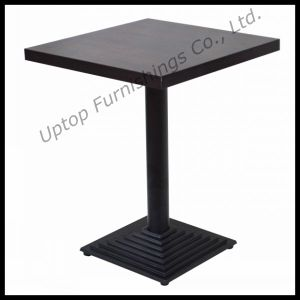 Custom Made Restaurant Wooden Top Square Dining Table (SP-RT108) pictures & photos