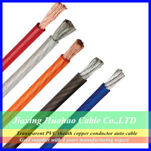 0AWG 2AWG 4AWG Transparent PVC Sheath Car Power Cable pictures & photos