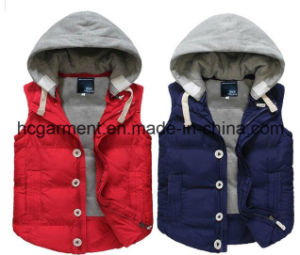 Fashion Jacket Outer Wear Winter Hoodie Waistcoat for Man/Women pictures & photos
