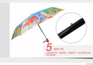 Automatic Three Fold European Style Hint Cloth Umbrellas pictures & photos