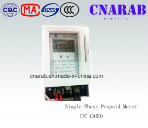 Single-Phase Two-Wire Electronic Prepaid Active Energy Meter (LCD Display) pictures & photos