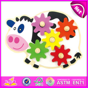 2014 New Kids Wooden Gaming Gear Toy, Popualr Cute Children Gaming Gear Toy, Lovely Baby Cow Style Wooden Gaming Gear Toy W13e035 pictures & photos