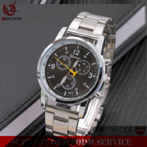 Yxl-328 Hottest Multiple Time Zone Brand Stainless Steel Chronograph Clock Hand Business Mens Wrist Watch pictures & photos