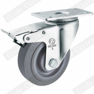 Medium Duty TPR Double Bearing Swivel Caster (Gray) G3302 pictures & photos
