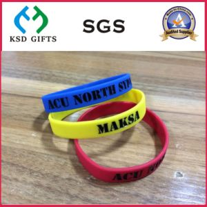 Customized Logo Personalised Silicone Bracelets (KSD-845) pictures & photos