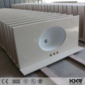 Kkr Corian Artificial Stone Bathroom Vanity Top pictures & photos