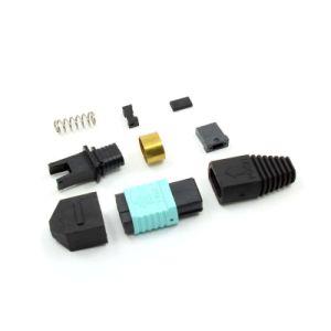 MPO APC Singlemode 12 Core Fiber Optic Connector pictures & photos