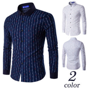 2017 New Casual Shirts Long-Sleeved Men Shirt Business Casual Dress pictures & photos