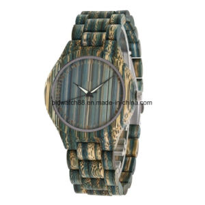 2017 New Fashion Ladies Bamboo Wood Watch with Flower Print pictures & photos