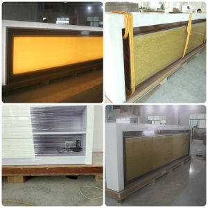 Tw Artificial Stone Small Home Bar Counter with LED Light pictures & photos