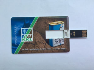 Promotion Flip Card USB Flash Drives Memory Pendrives Credit Card 2GB 4GB 8GB Full Logo Printing pictures & photos