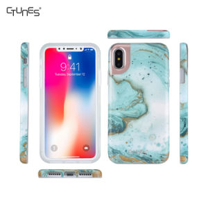 IMD Blue Animal Skin Series Slim Glossy Clear Bumper TPU Soft Case Rubber Silicone Cover for Apple iPhone X pictures & photos