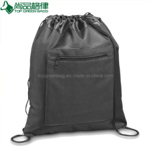 Durable Cheap Sport Shopping Bag Polyester Drawstring Backpack Pouch pictures & photos