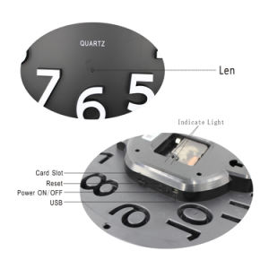 WiFi Wall Clock Hidden HD Camera 1080P Real Time Monitoring Motion Detection Remote Internet Recording pictures & photos