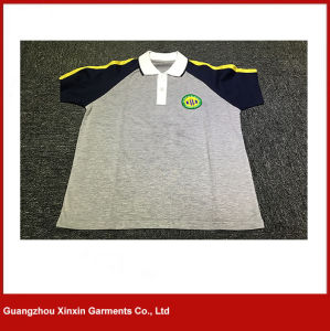 Customized Short Sleeve Cotton Pique School Clothes for Boys and Girls (U37) pictures & photos