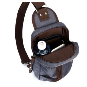 Travel Zipper Cross Body Sling Canvas Single Shoulder Men Chest Bag pictures & photos