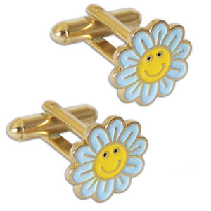 Customized Delicate Flower Logo Commerative Gift Cuff Link pictures & photos