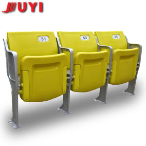 Blm-4151 Outdoor Ratan with Armrest PVC Pipe Bleacher Seats Used Plastic Folding Chairs pictures & photos